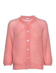 Mohair 3/4 Sleeve Cardigan - TAFFY PINK