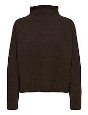 Mika Yak Funnelneck Sweater - DARK TAUPE