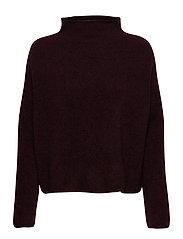 Mika Yak Funnelneck Sweater - MAROON MEL