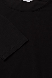Filippa K - Cotton Stretch Long Sleeve - langærmede toppe - black - 2