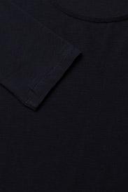 Filippa K - Cotton Stretch Long Sleeve - langærmede toppe - navy - 2