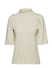 Cotton Crepe Pleat Top - BUTTER