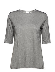 Tencel Elbow Sleeve Top - DK. GREY M