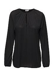 Sheer Crepe Blouse - BLACK