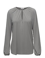 Sheer Crepe Blouse - FEATHER