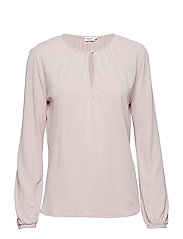 Sheer Crepe Blouse - FROSTY PIN