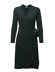 Drapey Crepe Wrap Dress - SPRUCE