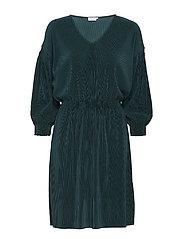 Mini Pliss Evening Dress - EMERALD