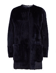 Delphine Fur Jacket - DK. NAVY
