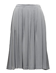 Pleated Midi Skirt - DOVE BLUE