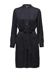 Easy Shirt Dress - NAVY