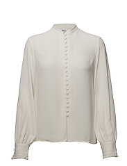 Sheer Button Blouse - CREAM