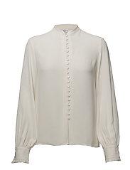 Sheer Button Blouse - CREAM