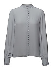 Sheer Button Blouse - DOVE BLUE