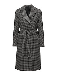 Victoire Dogtooth Coat - DK. GREY