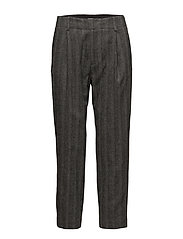 Simone Herringbone Trousers - GREY