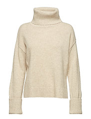 Chunky Roller Neck Sweater - SANDSTONE