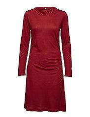 Tencel Wool Dress - DEEP RED