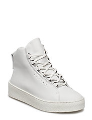 Anna Winter Laced Boot - WHITE NUBU