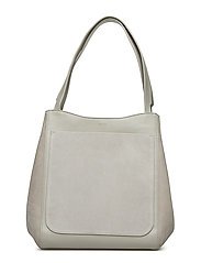 Shelby Bucket Leather Bag - CHALK MIX