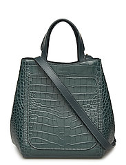 Shelby Mini Bucket Leather Bag - EMERALD CR