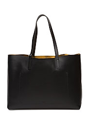 Faye Tote Leather Bag - BLACK NAPP
