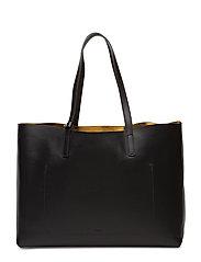 Faye Tote Leather Bag - BLACK NAPP