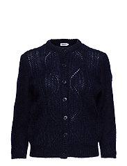 Soft Mohair Cardigan - NAVY