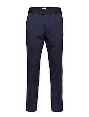 M. Terry Tuxedo Trousers - DK. NAVY