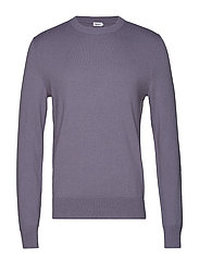 M. Cotton Merino Basic Sweater - BLUESTONE