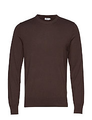 M. Cotton Merino Basic Sweater - DARK MOLE