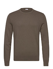 M. Cotton Merino Basic Sweater - DARK TAUPE
