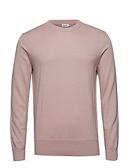 M. Cotton Merino Basic Sweater - FROSTY PIN