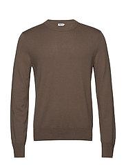 M. Cotton Merino Basic Sweater - GREY TAUPE