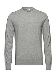 M. Cotton Merino Basic Sweater - LIGHT GREY