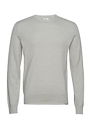 M. Cotton Merino Basic Sweater - LIMESTONE