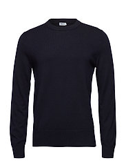 M. Cotton Merino Basic Sweater - NAVY