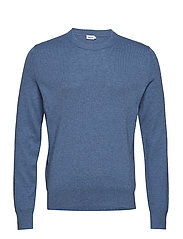 M. Cotton Merino Basic Sweater - PARIS BLUE