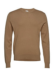 M. Cotton Merino Basic Sweater - TOBACCO