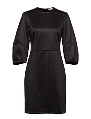 Sculptural Sleeve Dress - BLACK