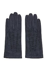 Studded Gloves - INK SUEDE