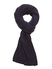 M. Knitted Rib Scarf - NAVY