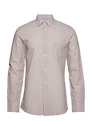 M. Tim Seersucker Check Shirt - FROSTY PIN