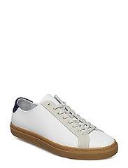M. Morgan Low Mix Sneaker - WHITE/LIGH