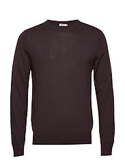 M. Merino Sweater - DARK PLUM