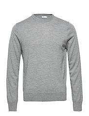 M. Merino Sweater - GREY MEL.