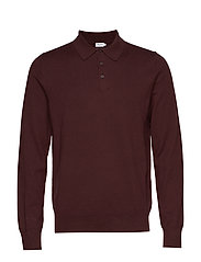 M. Knitted Polo Shirt - DEEP SHIRA