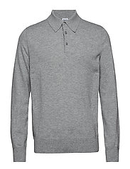 M. Knitted Polo Shirt - LIGHT GREY