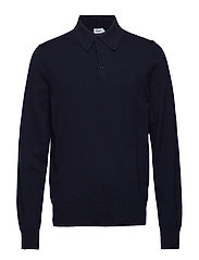 M. Knitted Polo Shirt - NAVY