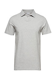 M. Lycra Polo T-Shirt - LIGHT GREY
